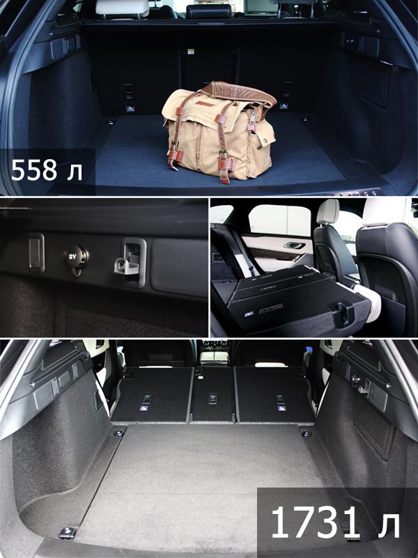 Range Rover Velar багажник фото