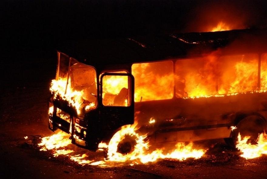 ВНижегородской области неисправный пассажирский автобус сгорел 22ноября